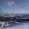 View of Yllas Ski lift from fell